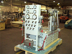gas and fuel power generation module engineered by Mitten Manufacturing